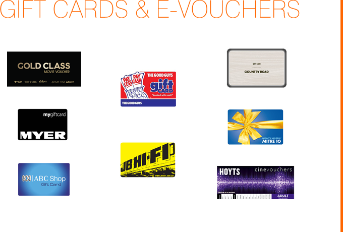 Gift Cards & eVouchers